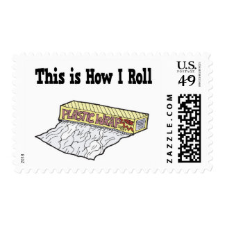 How I Roll Plastic Wrap Stamps