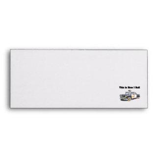 How I Roll (Police/Cop Car) Envelope