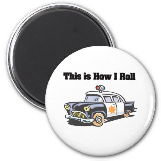 How I Roll (Police/Cop Car) Magnet