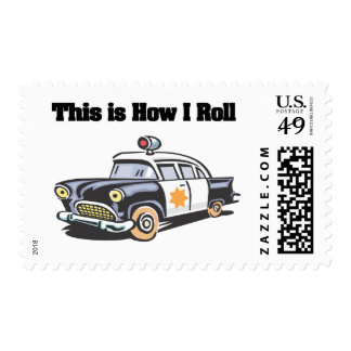 How I Roll (Police/Cop Car) Postage Stamps