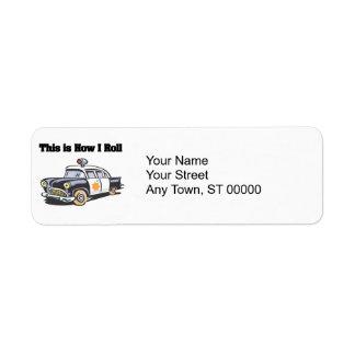 How I Roll (Police/Cop Car) Return Address Label