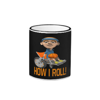 How I Roll Ringer Coffee Mug