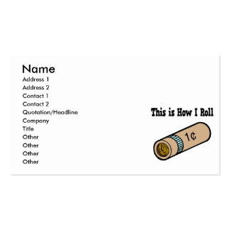 How I Roll Rolled Coins Business Card Templates