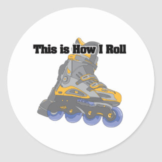 How I Roll (Roller Blades/Inline Skates) Classic Round Sticker