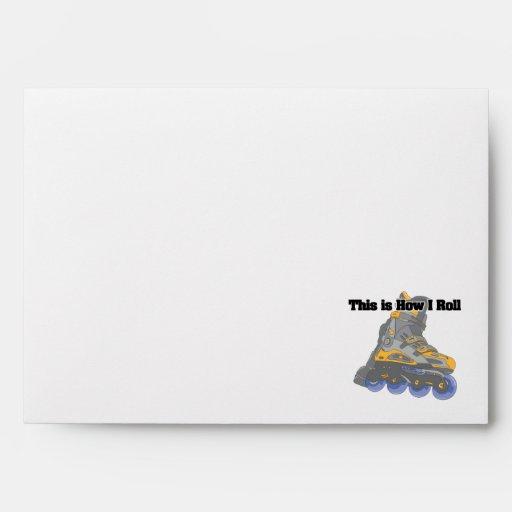 How I Roll (Roller Blades/Inline Skates) Envelope