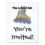 How I Roll (Roller Blades/Inline Skates) 4.25x5.5 Paper Invitation Card