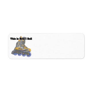 How I Roll (Roller Blades/Inline Skates) Return Address Labels