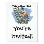 How I Roll (Roller Coaster) 4.25x5.5 Paper Invitation Card