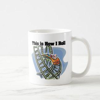 How I Roll (Roller Coaster) Classic White Coffee Mug