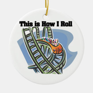 How I Roll (Roller Coaster) Double-Sided Ceramic Round Christmas Ornament