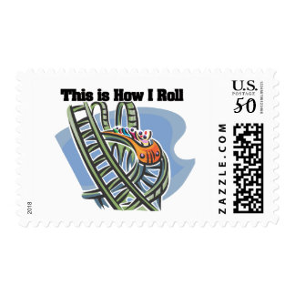 How I Roll (Roller Coaster) Postage
