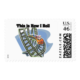 How I Roll Roller Coaster Postage