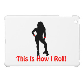 How I Roll Roller Derby Girl iPad Mini Covers