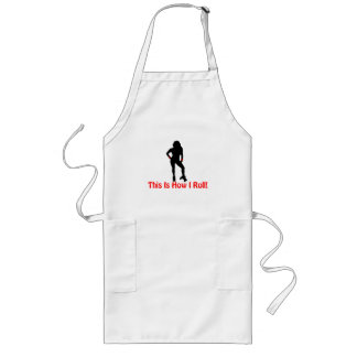 How I Roll Roller Derby Girl Long Apron