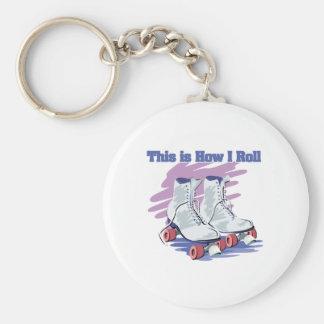 How I Roll (Roller Skates) Keychain