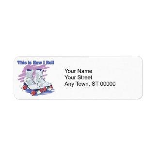 How I Roll (Roller Skates) Custom Return Address Labels