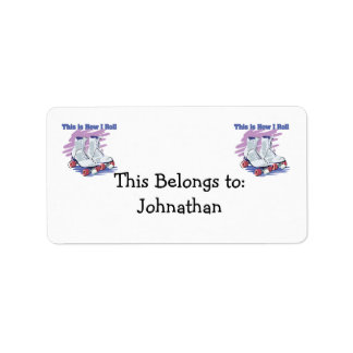 How I Roll (Roller Skates) Personalized Address Labels