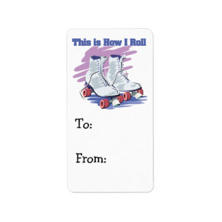 How I Roll (Roller Skates) Personalized Address Label