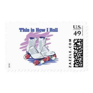 How I Roll (Roller Skates) Postage Stamps