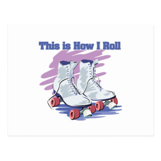 How I Roll (Roller Skates) Postcard