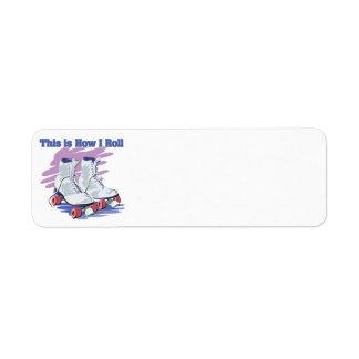 How I Roll (Roller Skates) Return Address Label