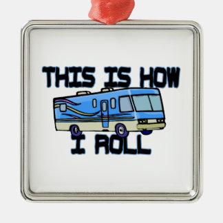 How I Roll RV Metal Ornament