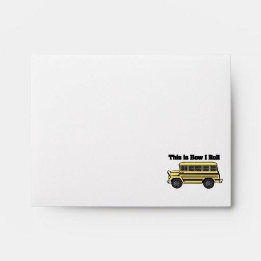 How I Roll (School Bus) Envelope