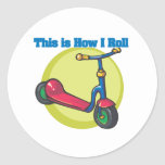 How I Roll (Scooter) Classic Round Sticker