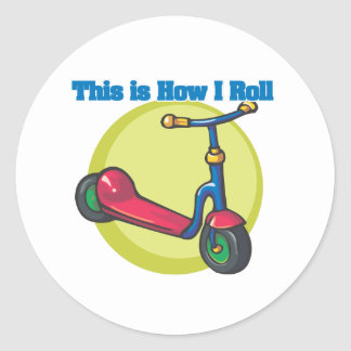 How I Roll (Scooter) Round Stickers
