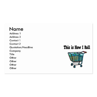 How I Roll Shopping Cart Business Cards