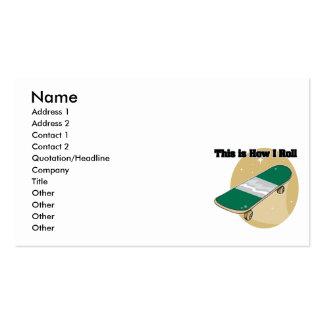 How I Roll (Skateboard) Business Card