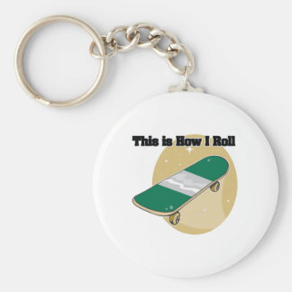 How I Roll (Skateboard) Keychain