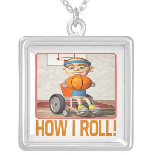 How I Roll Square Pendant Necklace