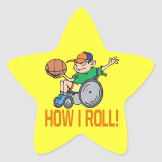 How I Roll Star Sticker