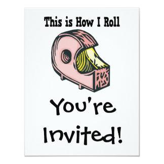 How I Roll Tape 4.25x5.5 Paper Invitation Card