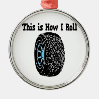 How I Roll Tire Christmas Ornaments