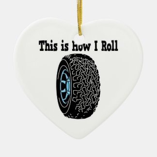 How I Roll Tire Christmas Tree Ornaments