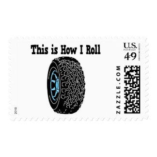How I Roll Tire Postage Stamps