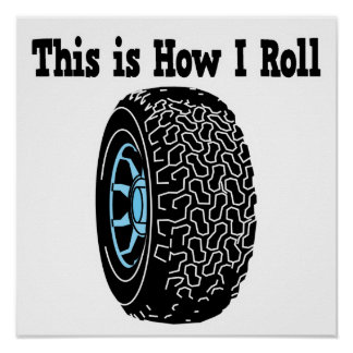 How I Roll Tire Print