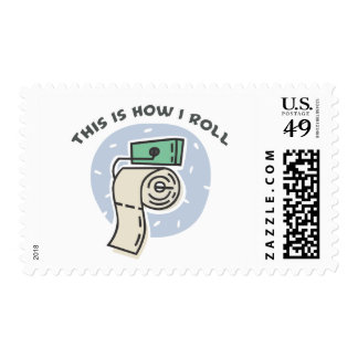 How I Roll (Toilet Paper) Postage Stamps