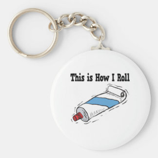 How I Roll Toothpaste Tube Keychain