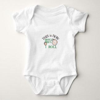 How I Roll Tractor Baby Bodysuit