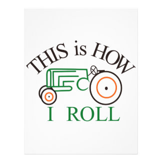 How I Roll Tractor Letterhead