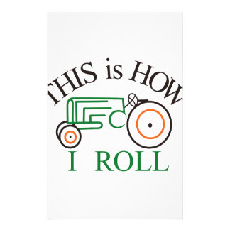 How I Roll Tractor Stationery