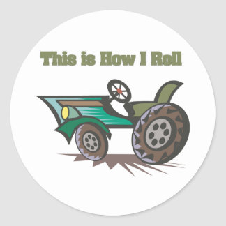 How I Roll (Tractor) Stickers