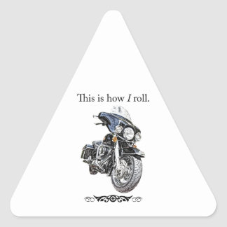 How I Roll Triangle Sticker