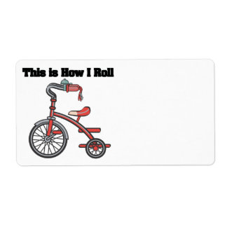 How I Roll (Tricycle) Custom Shipping Labels