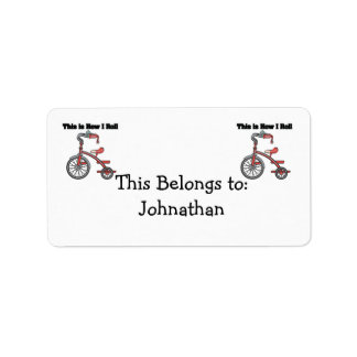 How I Roll (Tricycle) Personalized Address Label