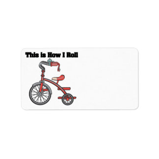 How I Roll (Tricycle) Personalized Address Labels