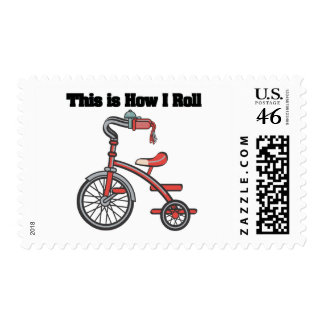 How I Roll Tricycle Stamp